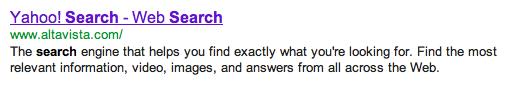 Yahoo Internet Search