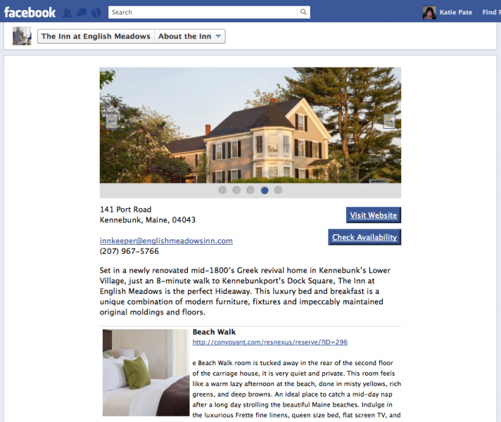 Facebook Tab for Inn at English Meadows