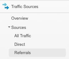 Referrals in Google Analytics