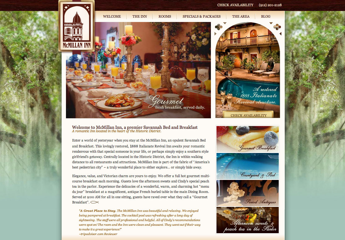 McMillan Inn New Website Design