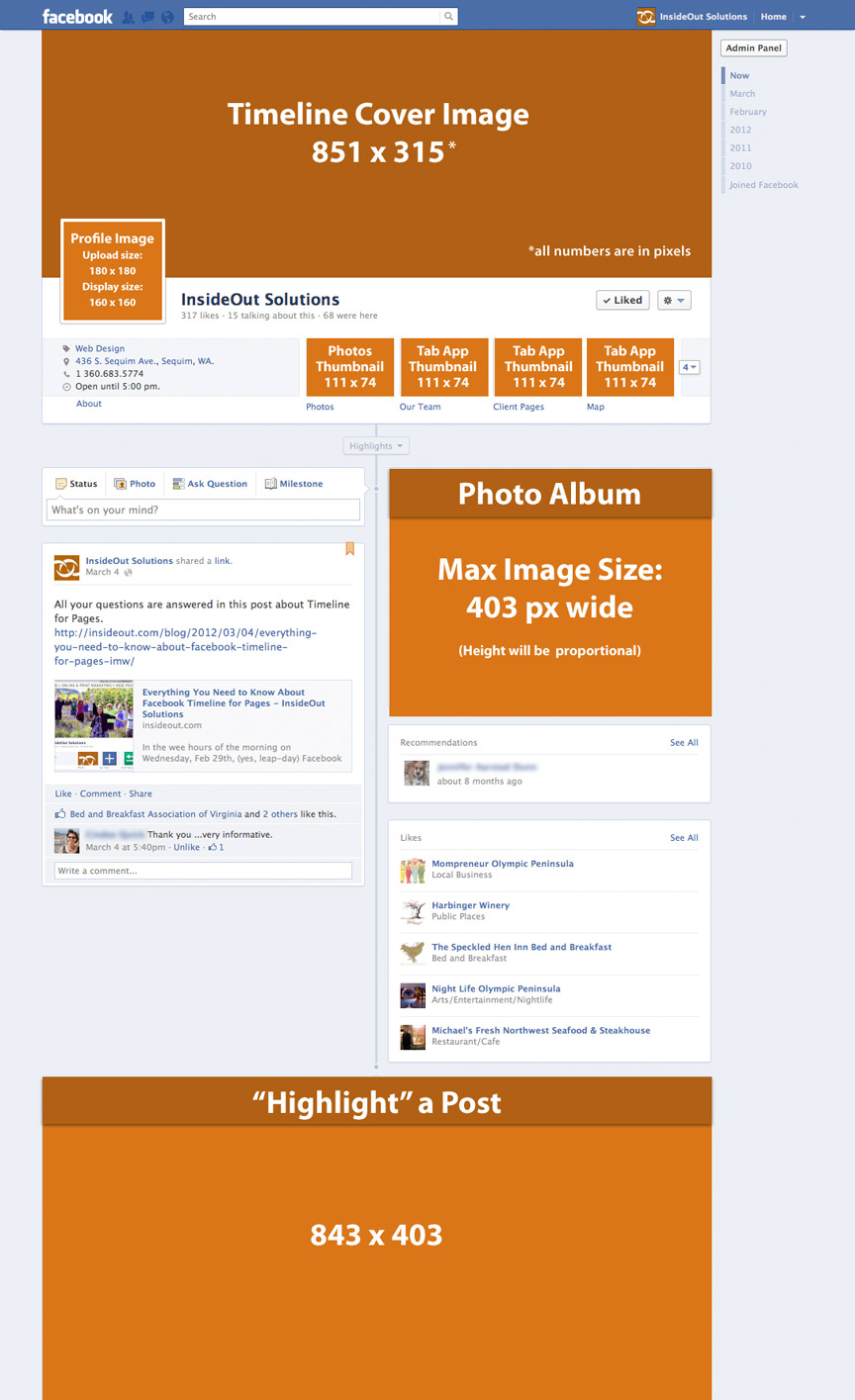 facebook timeline image dimensions cheat sheet insideout solutions