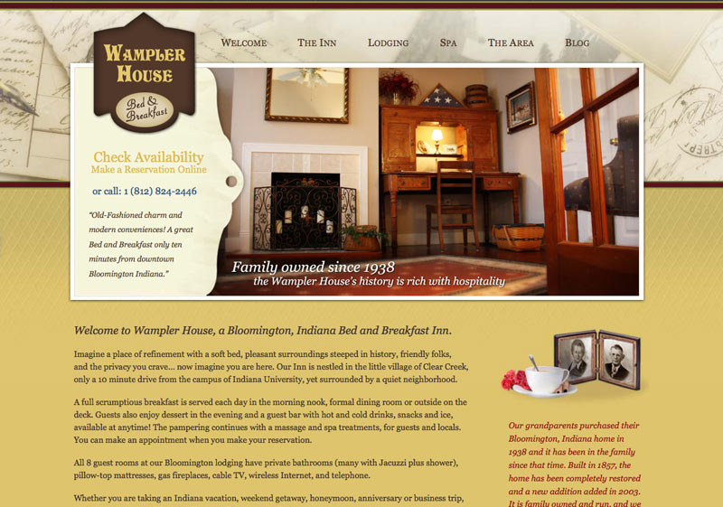 Wampler House Bed and Breakfast custom design