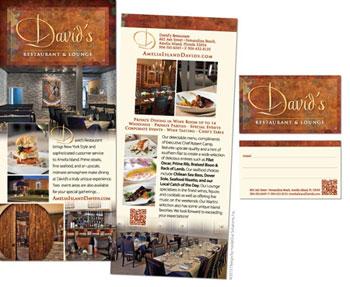 David's Restaurant Rack Card and Business Card