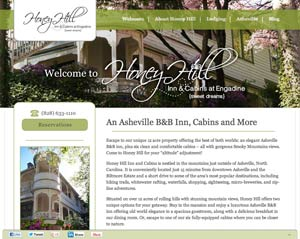 New site design for the North Carolina based Inn
