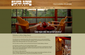 New website for Silver Ridge Resort, using our Horizon theme