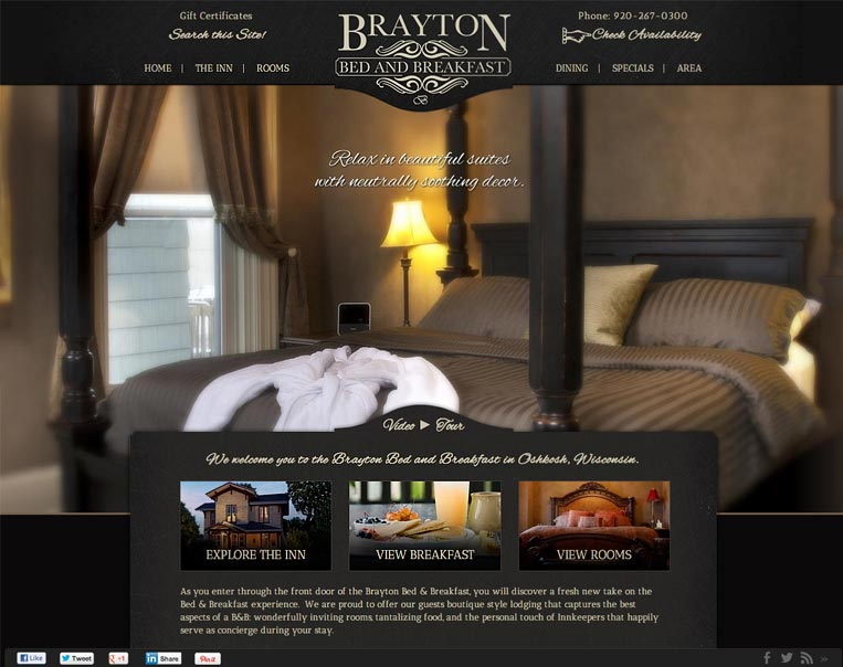 Bed and Breakfast Website Design InsideOut Solutions