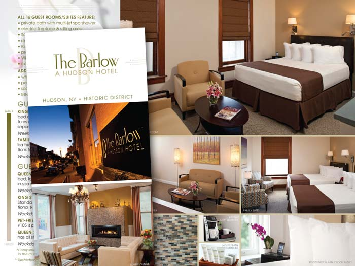 Boutique hotel website design branding the barlow for The barlow hotel hudson ny