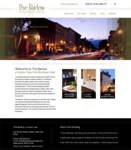 The Barlow: a boutique hotel website design by InsideOut Solutions