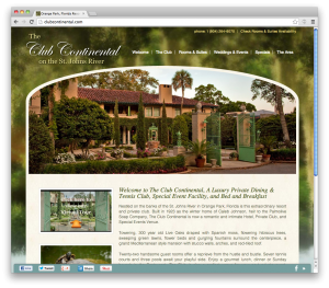 responsive website - Club Continental