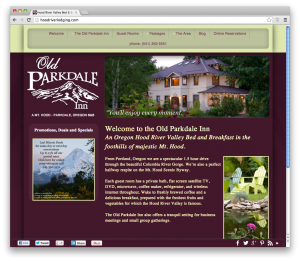 responsive website - Old Parkdale Inn