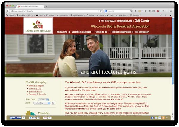 WBBA responsive website design