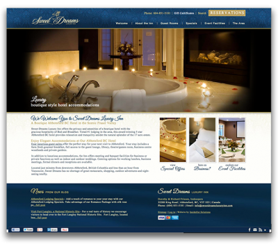 Sweet Dreams Responsive Website Launch Preview