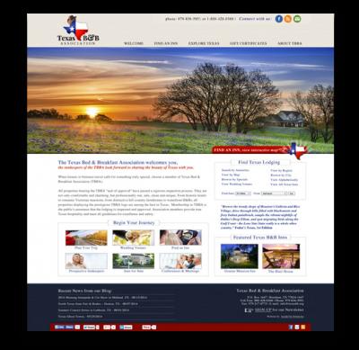 Texas B&B Association Site Launch