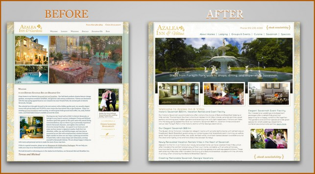 Azalea Inn Before and After Site Launch