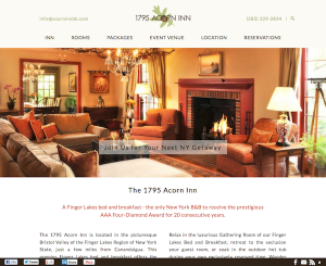 2015 Redesign of 1795 Acorn Inn website