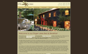 1795 Acorn Inn Website, circa 2005-2014