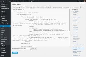 Kilauea Lodge Custom Responsive WordPress Theme Editor