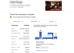 Google Hotel Finder direct booking step 4