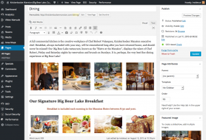 knickerbockermansion.com - Dining page editor