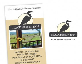 Black Heron Inn logo design