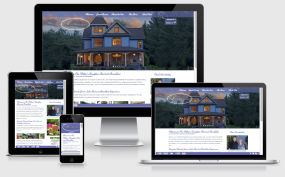 Responsive B&B website for Miller's Daughter Bed and Breakfast (Green Lake, Wisconsin)