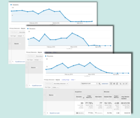 Google Analytics Screenshot of TripAdvisor Referrals Jan 3 - Apr 23, 2016