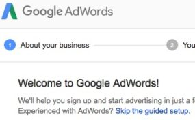 Google AdWords 2 - Skip the guided setup