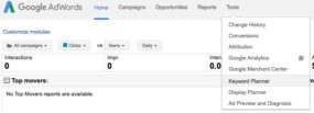 Google AdWords 4 - select Keywords Planner