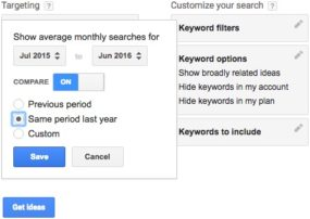 Google AdWords Keywords Planner 02 - date range