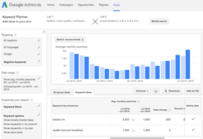 Google AdWords Keywords Planner 08 - multiply output with date range comparison