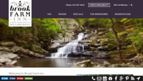 Brook Farm Inn Website - after the new responsive WordPress website from InsideOut Solutions