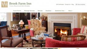 Brook Farm Inn Website - before the new responsive WordPress website from InsideOut Solutions