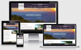Brook Farm Inn responsive WordPress website