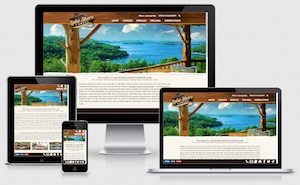 Lake Shore Cabins custom responsive WordPress website