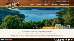 New Lake Shore Cabins custom responsive WordPress website
