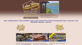 Previous Lake Shore Cabins Website