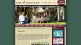 West Hill House B&B 2006 Website Design
