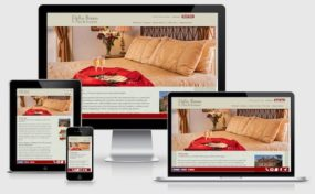WordPress bed and breakfast website for Bella Roma Bed & Breakfast (Albuquerque, NM) showing it's responsive design on various devices