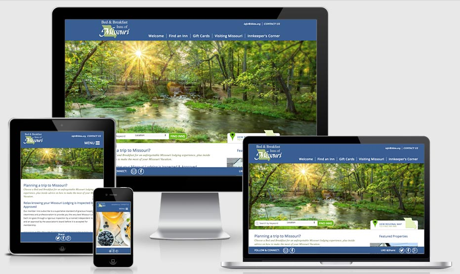 Bed & Breakfast Inns of Missouri - bbim.org - 2 new responsive websites