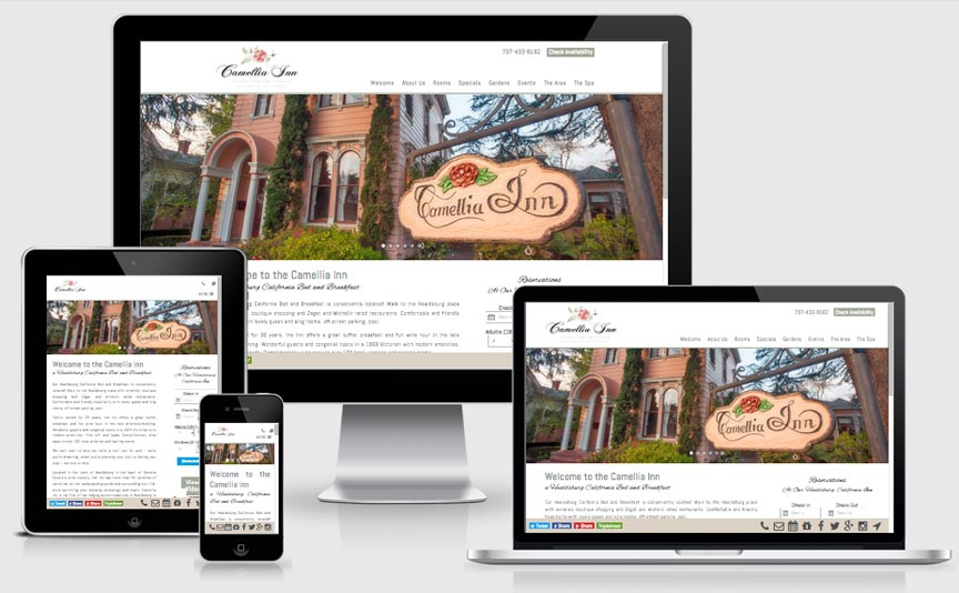camelliainn.com new responsive website