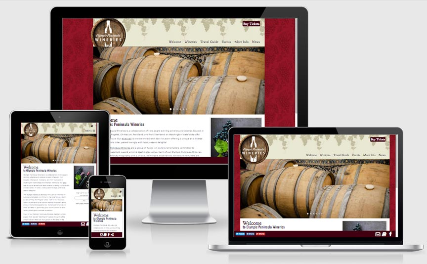 olympicpeninsulawineries.org new responsive website