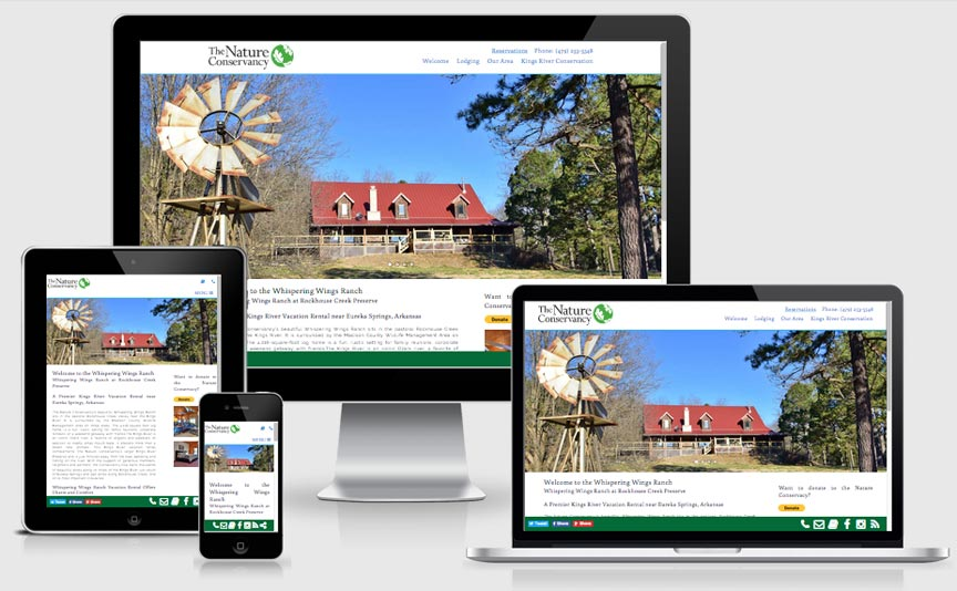 rockhousecreekpreserve.org new responsive website