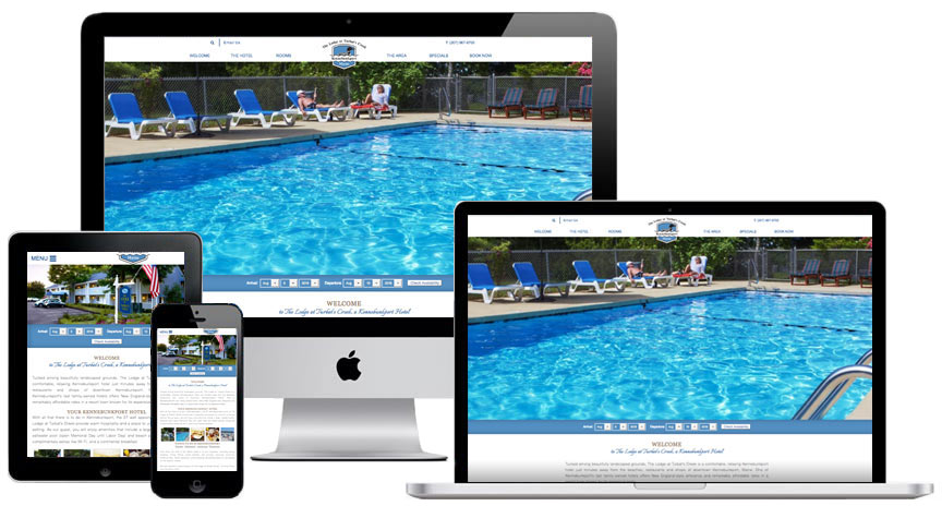 Hotel Website Design for Lodge at Turbats Creek