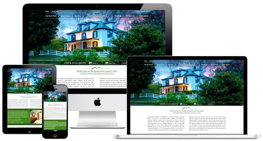 Virginia Bed and Breakfast Website Design