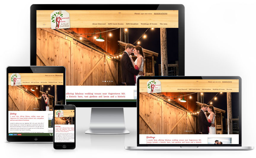 Elmwood Farm B&B tourism website design