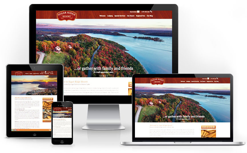 Sugar Ridge Resort tourism website design