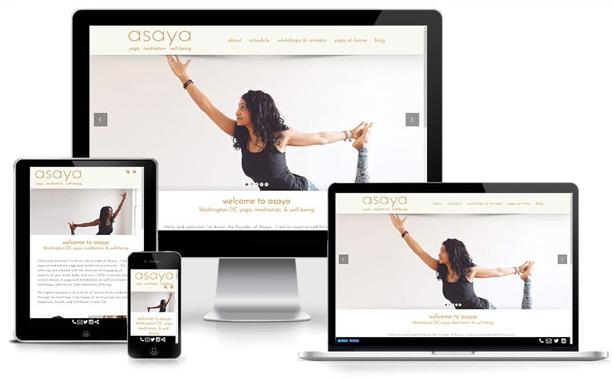 New Asaya Yoga website design