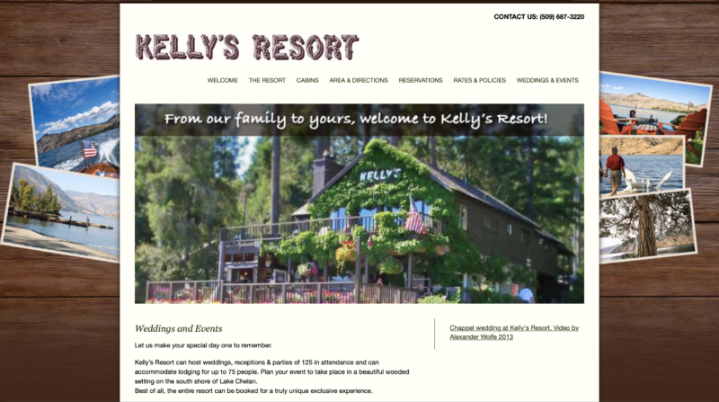 Old Kelly's Resort website