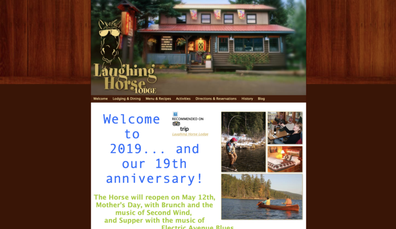 the old Laughing Horse Lodge website