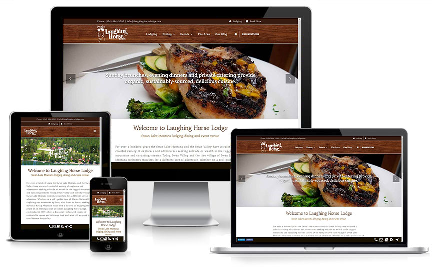 New Laughing Horse Lodge Responsive website design